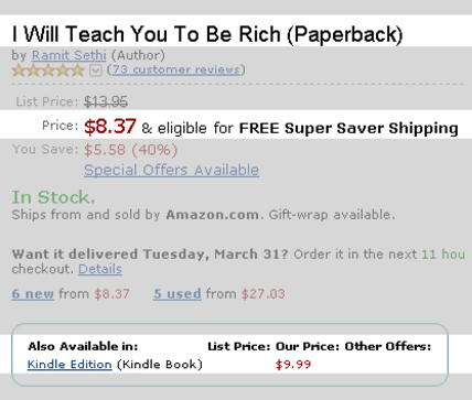 Beispiel für schwer nachvollziehbare eBook-Preise