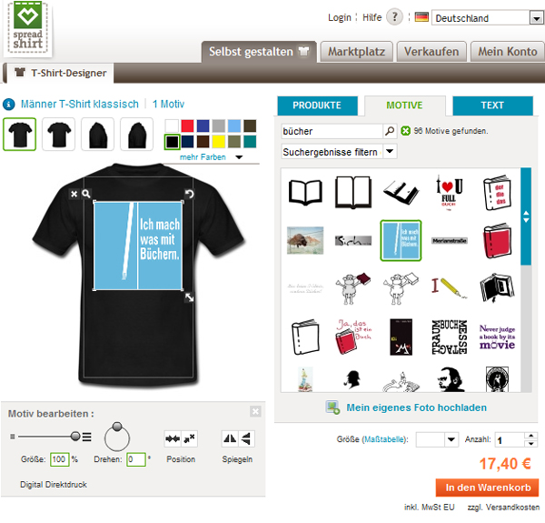 Ab sofort möglich: T-Shirts, Buttons und Tassen mit unserem Logo selbst gestalten