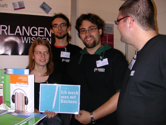 Studenten der Buchwissenschaft, Uni Erlangen