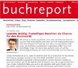 """Link-Tipp in eigener Sache: Beitrag zum Thema """"Freiwilliges Bezahlen als Chance für den Buchmarkt"""""""
