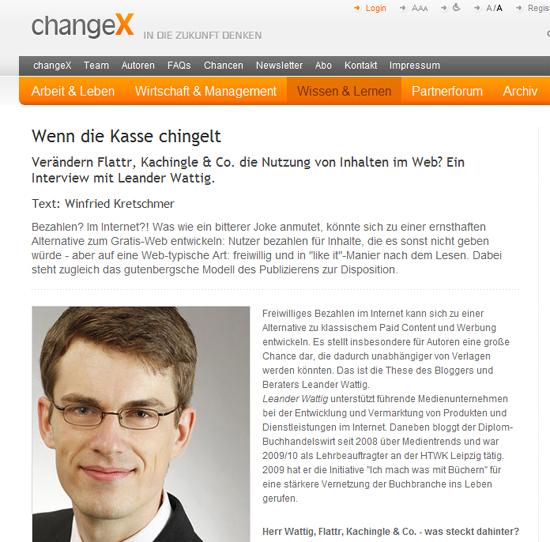 Link-Tipp in eigener Sache: Interview zu Crowdfunding bei changeX