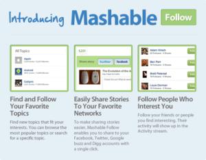"""Mashable Follow: Ein führender Blog will mithilfe von """"social"""" noch relevanter werden"""