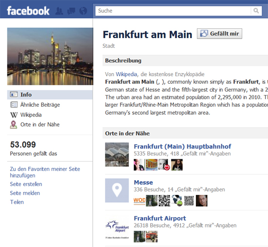Facebook-Gemeinschaftsseiten zeigen nun Aufenthaltsorte von Freunden auf einen Blick