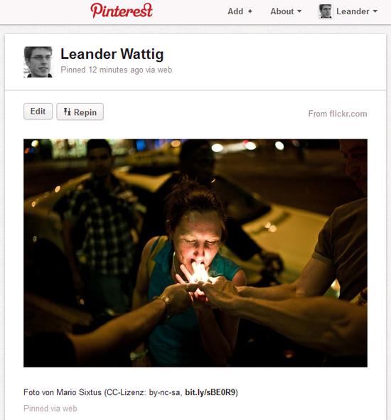 Probleme beim Umgang mit dem Urheberrecht am Beispiel der Web-Plattform Pinterest