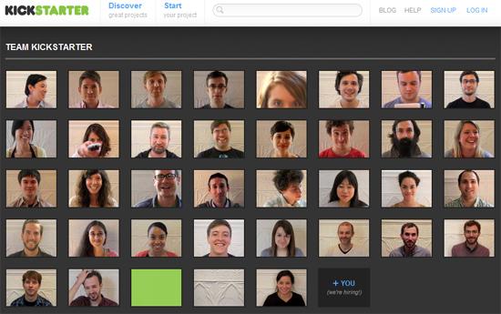 Schöne Idee: Mitarbeiter-Darstellung auf der Website mithilfe von animierten GIF-Grafiken