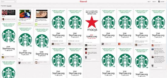 Pinterest-Monitoring enthüllt auch das Vorgehen von Spammern