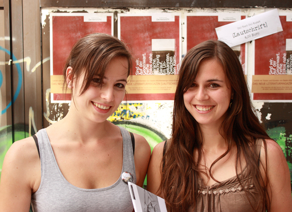 Jennifer Six und Cindy Ruch: Wir sind beste Freundinnen, die das Literaturmagazin [Lautschrift] herausgeben
