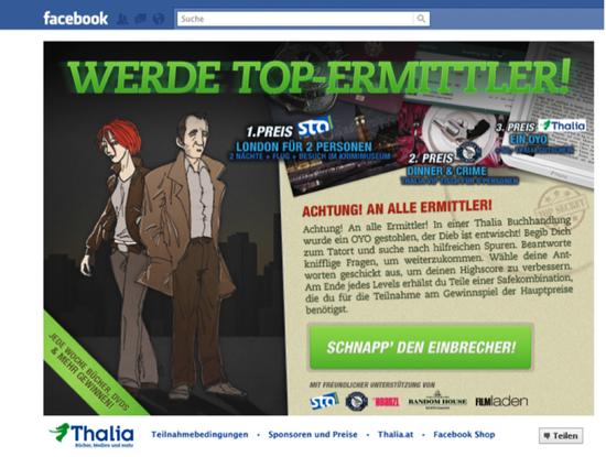 """Thalia: Facebook-Spiel """"Tatort Thalia"""" zum Krimisommer 2011"""