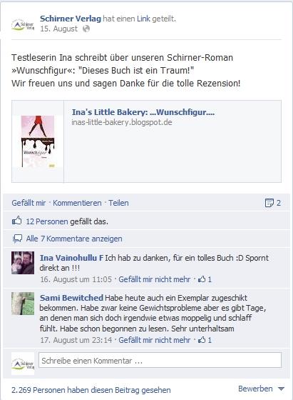 Schirner Verlag: Gestaltung der Facebook-Seite als Themenportal zusammen mit den Lesern