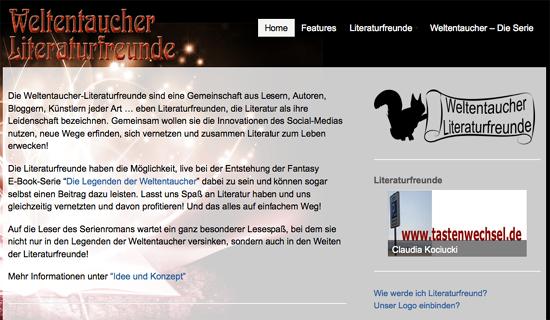 Hilke-Gesa Bußmann: Weltentaucher-Literaturfreunde begleiten die Entstehung einer mehrteiligen Fantasyserie