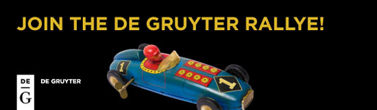 """De Gruyter: """"De Gruyter Rallye"""" - Fahrstunden auf der neuen Verlags-Website"""