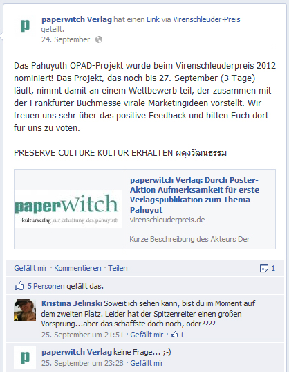 #vsp12-Resonanz bei Facebook & Co. (Auswahl)