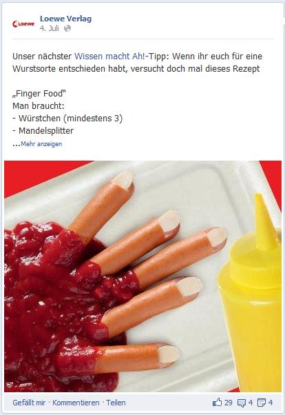 """Loewe Verlag: Social-Media-Aktion für das Kinder-Kochbuch """"Lecker Essen"""" der Reihe """"Wissen macht Ah!"""""""