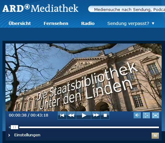 """ARD-Doku: Die Staatsbibliothek - Berlins """"Superhirn"""""""