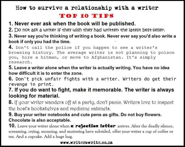 Über den Umgang mit Schriftstellern