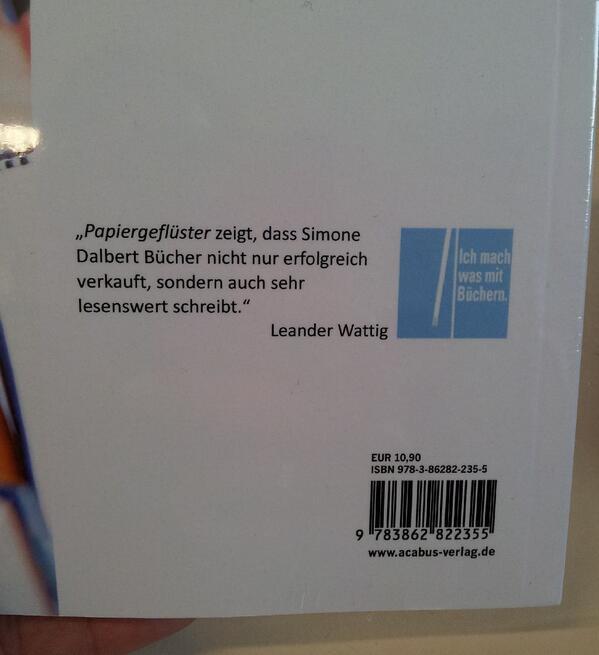 """Simone Dalbert: Wie aus Spaß ein Buch entstand (""""Papiergeflüster - Aus dem Leben einer Buchhändlerin"""")"""