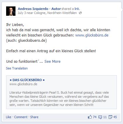 Andreas Izquierdo: Das Glücksbüro als Tauschbörse für ein kleines Glück