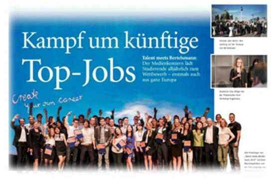 Bertelsmann: 'Talent Meets Bertelsmann' als Element der Kampagne 'Create Your Own Career'
