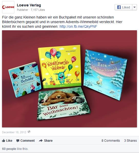 """Loewe Verlag: Adventsaktion mit """"Wimmelbild"""" auf der Facebook-Seite"""