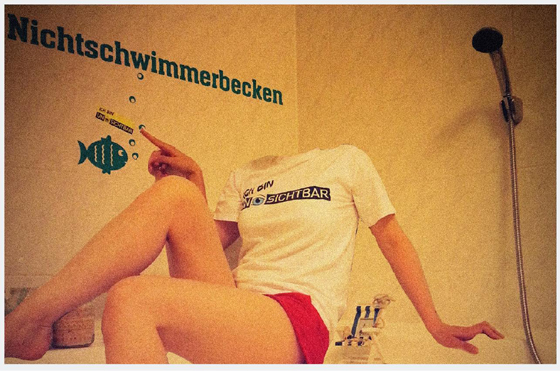 "Unsichtbar Verlag: Aufkleber-Aktion 2013 ""Ich bin Unsichtbar"""