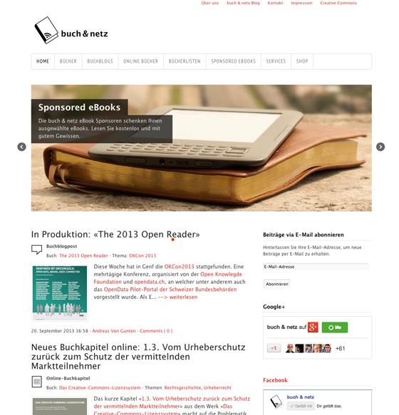buch & netz: eBook-Sponsoring und Online-Bücher