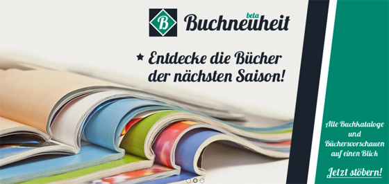 Buchneuheit: Anlaufstelle für Informationen über zukünftige Titel, Aktionen und Events von Verlagen