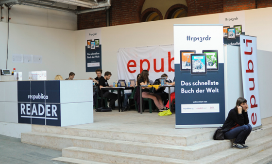 re:publica, epubli und Die Deutsche Journalistenschule: #rp13 Reader - Das schnellste Buch der Welt