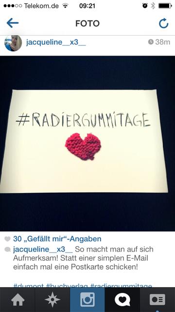 DuMont Buchverlag: Hashtag-Postkarten für #Radiergummitage