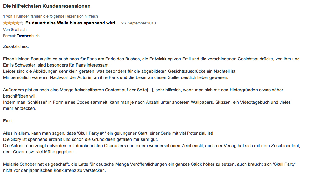 "Carlsen Verlag: Internetpräsenz für die Manga-Serie ""Skull Party"""