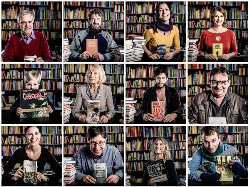 """Buchhandlung Lessing und Kompanie: Fotoaktion """"Kunden und ihre Lieblingsbücher"""""""
