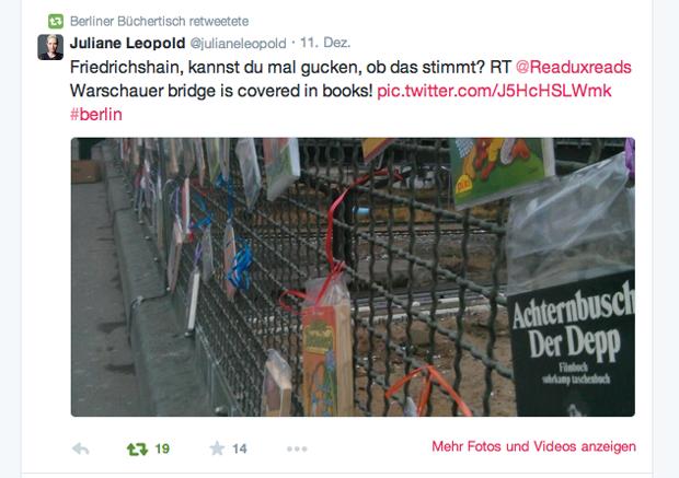 Berliner Büchertisch: Mitmach- und Crowdfunding-Aktion für neuen Buchladen