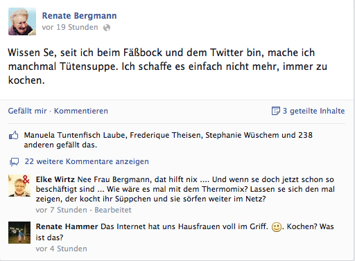 Torsten Rohde: Twitter-Omi @RenateBergmann