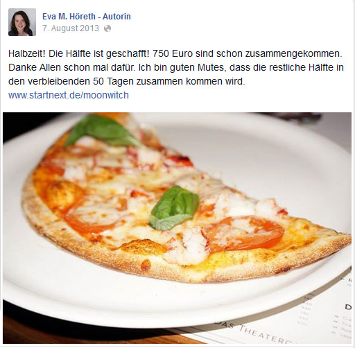Eva Maria Höreth: Crowdfunding für Lektorat und Marketingartikel