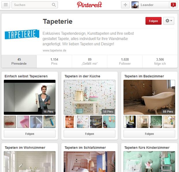"phg: Social Media Marketing für PoD-Tapeten von ""Tapeterie"""