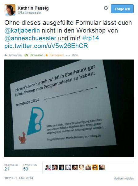 Kathrin Passig: Das Programmieren geregelt kriegen