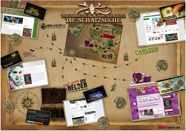 brandsatz für den Carlsen Verlag: Schatzsuche durch das Social-Media-Meer