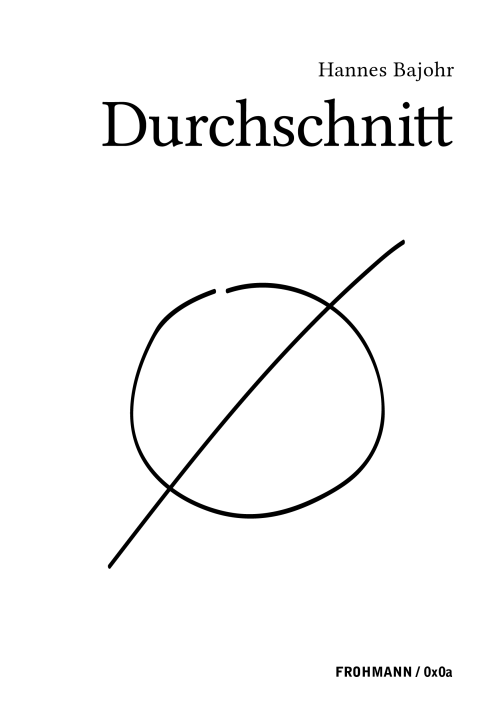 'Durchschnitt' von Hannes Bajohr (Paperback)