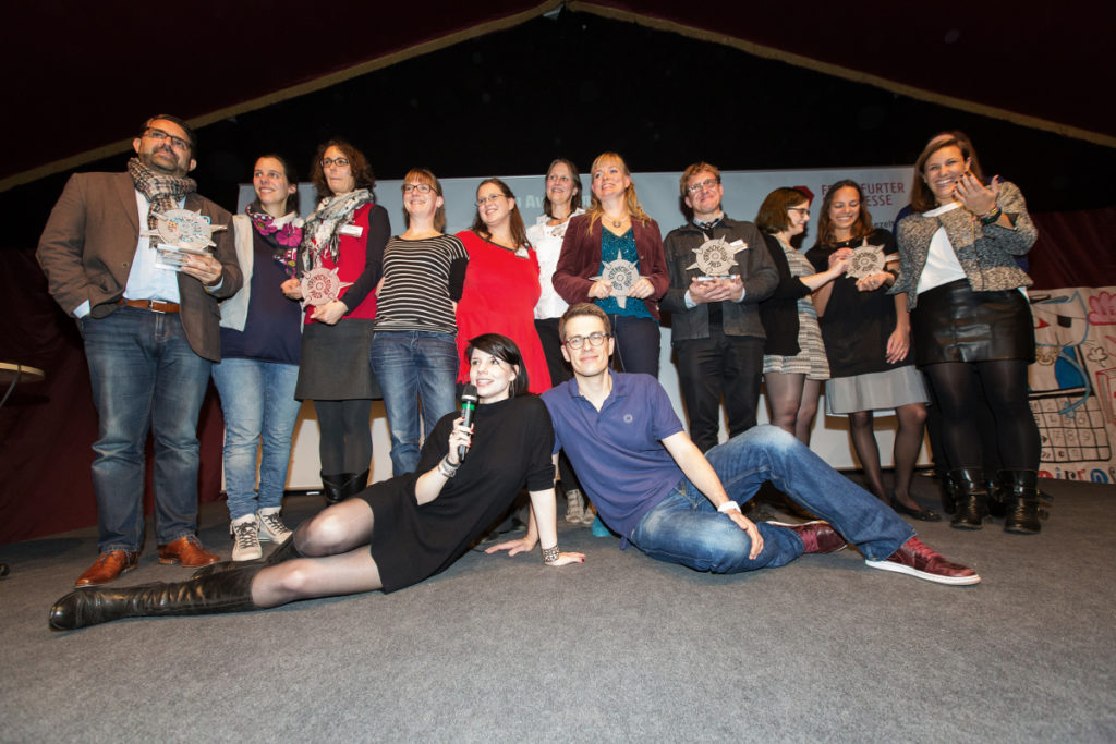Foto: Impressionen vom Virenschleuderpreis 2015 auf der Frankfurter Buchmesse