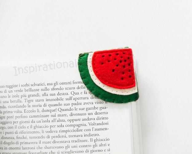 Wassermelonen-Lesezeichen