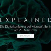 < EXPLAINED > Die Digitalkonferenz bei Microsoft Berlin