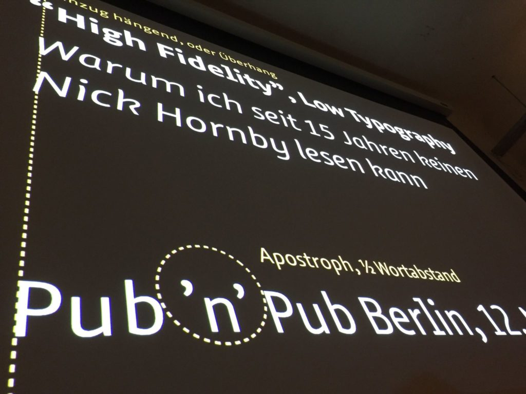 19. #pubnpub Berlin mit Jürgen Siebert - High Fidelity, low typography