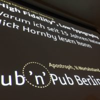 19. #pubnpub Berlin mit Jürgen Siebert - High Fidelity, low typography