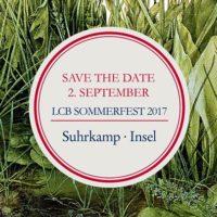 LCB-Sommerfest der Verlage Suhrkamp und Insel