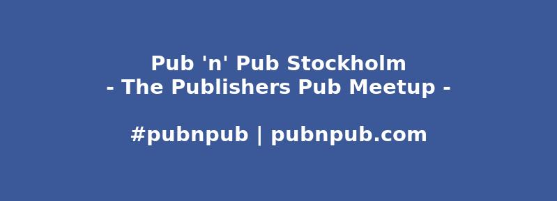 #pubnpub Stockholm in Kooperation mit BoD (auf Schwedisch)