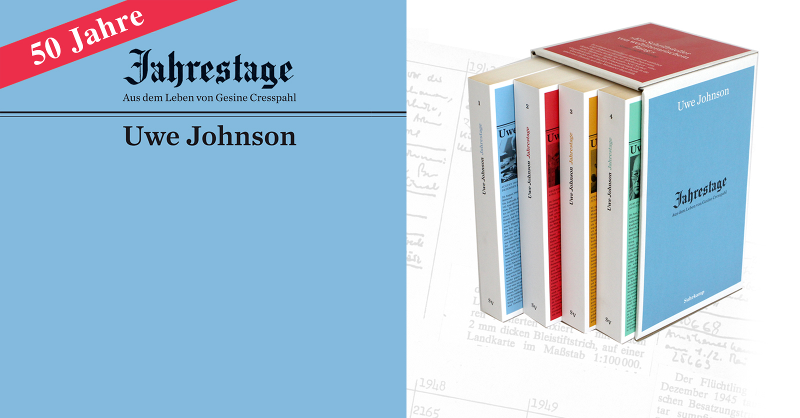 "Suhrkamp Verlag: 50 Jahre Uwe Johnsons ""Jahrestage"""