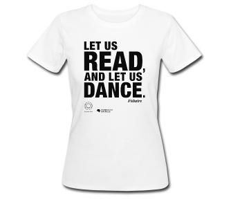 LET US READ | Voltaire-Zitat-Frauen Bio-T-Shirt