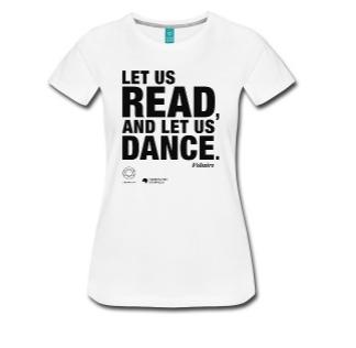 LET US READ   Voltaire-Zitat-Frauen-Premium-T-Shirt