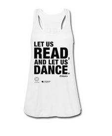 LET US READ | Frauen-Tank-Top mit Voltaire-Zitat