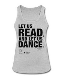 LET US READ | Frauen-Bio-Tank-Top mit Voltaire-Zitat