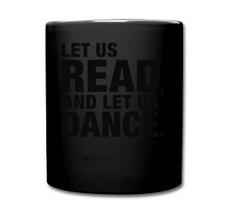 LET US READ | einfarbiger Kaffeebecher mit Voltaire-Zitat